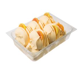 Orange italian gelato ice cream.