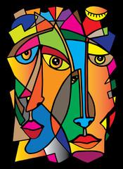 Fotobehang Klassieke abstractie Cubism 2mens2