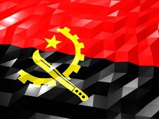 Flag of Angola 3D Wallpaper Illustration