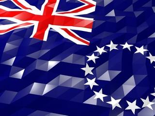 Flag of Cook Islands 3D Wallpaper Illustration