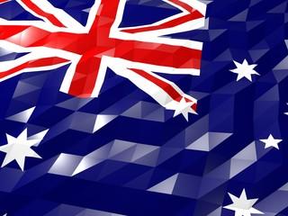 Flag of Heard Island and McDonald Islands 3D Wallpaper Illustrat