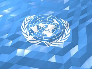 Flag of United Nations 3D Wallpaper Illustration