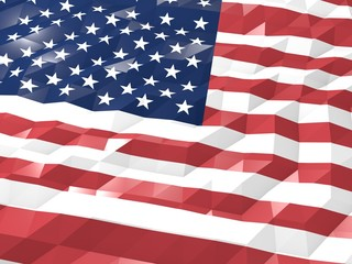 Flag of United States of America 3D Wallpaper Illustration
