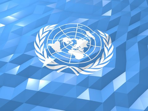 Flag of United Nations 3D Wallpaper Illustration
