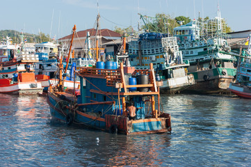 Industrial Commercial Port of Phuket in Thailand