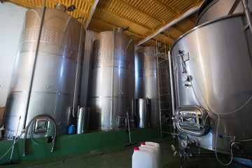 small contemporary winemaker factory