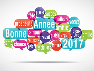 nuage de mots : bonne année 2017