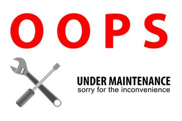 sign Grunge Square sign - Sign - Under Maintenance