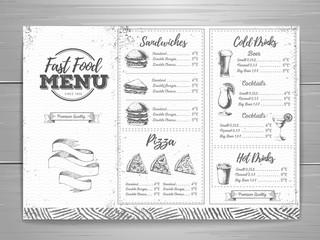 Vintage fast food men design