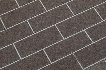 Brown brick wall closeup abstract background