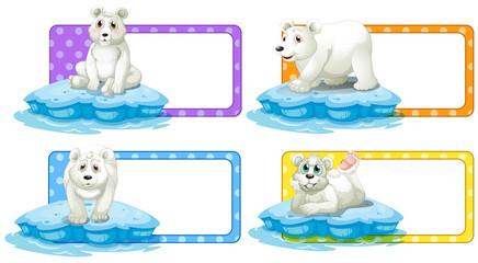 Lable design with polar bears