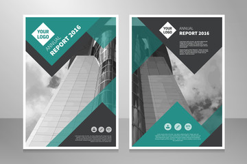 Brochure annual report book abstract vector background design template
