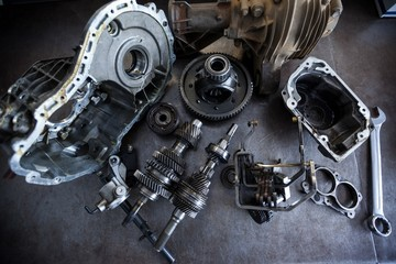 Spare parts of car