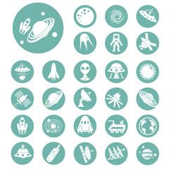 Set of twenty seven cosmos icons
