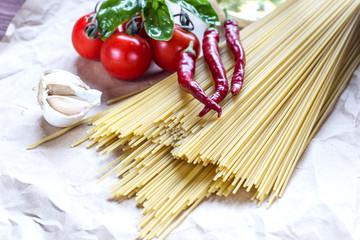 Italian spaghetti with tomatoes