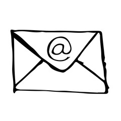 Free Doodle icons – Doodle email icon hand draw illustration d