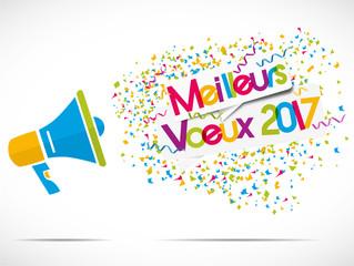 mégaphone : meilleurs voeux 2017