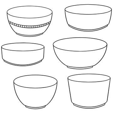 vector set of bowl