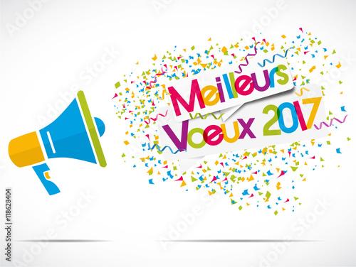 M gaphone meilleurs voeux 2017 fichier vectoriel libre de droits sur la banque d 39 images - Cartes de voeux virtuelles 2017 ...