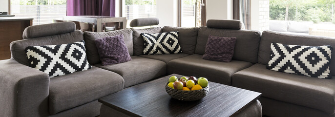Couch in living room decor