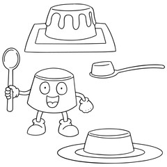 vector set of pudding