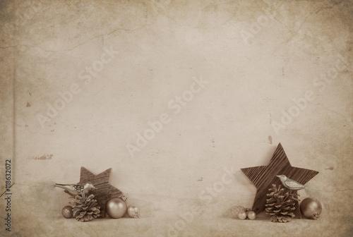 Vintage Bilder Weihnachten.Rustikale Alte Dekoration Zu Weihnachten Auf Holz Hintergrund Im