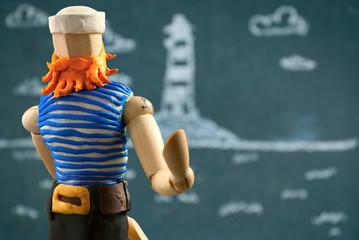 Sailor wooden dummy.