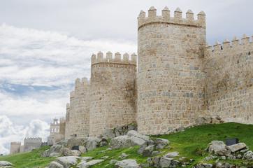 La muralla de Ávila, Castilla y León. España.