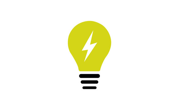 Vector buld lighting icon on white background