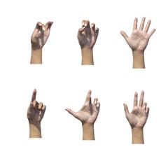 Woman open hand numeri numero segni gesti