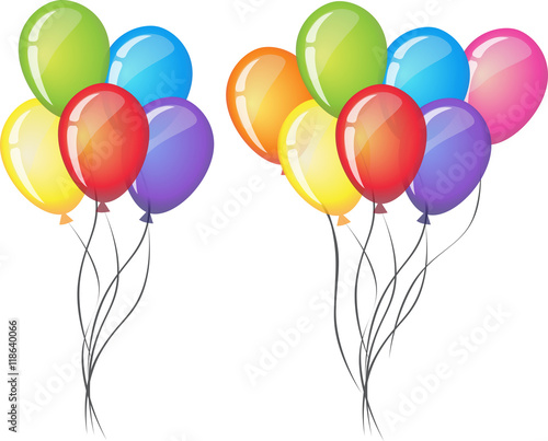 celebrate vector balloons on white background air balloon rh fotolia com vector balloons black and white vector balloons png
