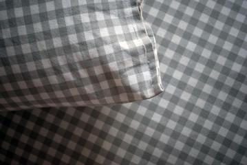 Tessuto a quadri bianco e nero
