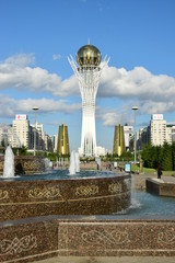 The BAITEREK tower in Astana, capital of Kazakhstan