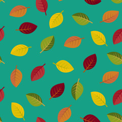 Seamless autumn leaves. vector illustration