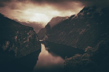 Wall Mural - Scenic Norway Fjords