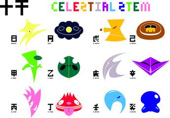 celestial stem (Chinese 天干) icons