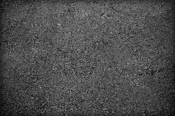 Background texture of rough asphalt;  Black texture background;