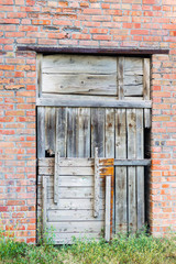 Boarded up gate