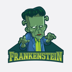 frankenstein illustration design colorful