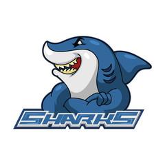 sharks illustration design colorful