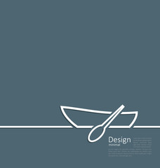 Logo of row boat in minimal flat style line