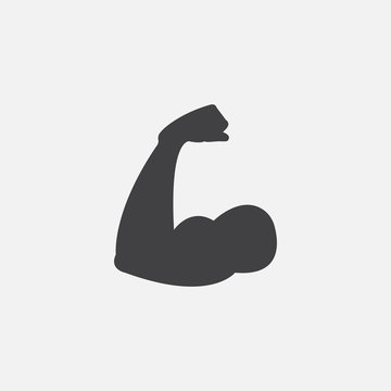 biceps icon vector, solid logo illustration, pictogram isolated on white