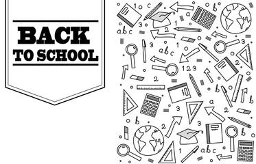Back to school doodle banner design
