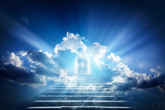 Doors to Paradise. The concept on religions and philosophical topics.