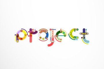 Project word letter banner