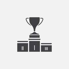 winners podium icon vector, solid logo illustration, pictogram isolated on white