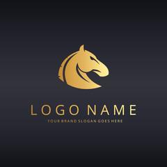 Horse logo template. Horse head logotype.
