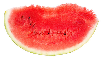 slice of ripe watermelon isolated on white