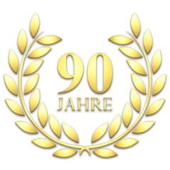 Lorbeerkranz. Gold. 90 jahre