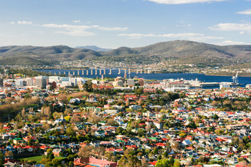 View toward Hobart CBD